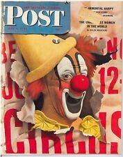 The Saturday Evening Post John Atherton Clown Picture July 8 1944 Vintage