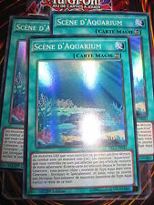 YU-GI-OH! SUPER RARE SCENE D'AQUARIUM LOT DE 3 (PLAYSET) DRL2-FR042 MINT NEUF