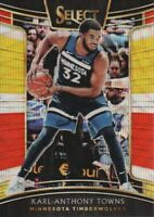 2018-19 Select Basketball Prizms Tri Color #63 Karl-Anthony Towns Timberwolves