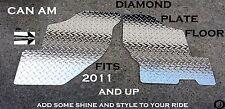 CANAM Commander Rugged Tread Brite Diamond Plate Floor Boards 2011-16