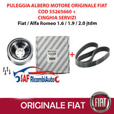 PULEGGIA ALBERO MOTORE + CINGHIA SERVIZI ORIGINALE ALFA ROMEO 159 BRERA 1.9 JTDM