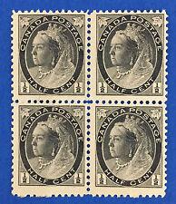 Canada # 74 ½ ¢ Black - Block Of 4 - Mint Nh F-Vf
