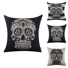 Day of the Dead Sugar Skull Cushion Cover Halloween Pillow Case Festive Decor