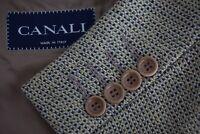 Canali Textured Heavy Tweedy Brown Black Plaid Wool Blend Sport Coat Jacket 44S