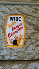 Vintage WIBC League Champion 83-84 Patch Bowling Sew On