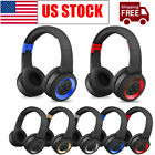 Wireless Headphones Bluetooth Headset Over-Ear Stereo Noise Cancelling w/ Mic