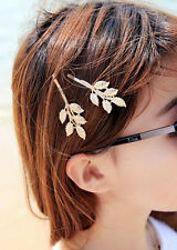HOT Hair Clips Athena Olive Branch Leaves Barrettes Bobby Pin Hairpins Ornaments