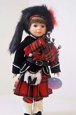 The Scottish Highland Piper From The Leonardo Collection Porcelain Dolls