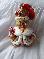 "Christopher Radko ""Ginger King"" Gingerbread Large Christmas Ornament NWT"