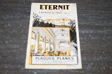 ANCIEN LIVRE POUR PLAQUES PLANES ETERNIT DE 1927.