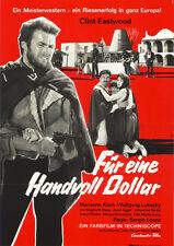 Für eine Handvoll Dollar ORIGINAL Kinoplakat Clint Eastwood / Marianne Koch