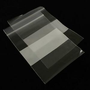 100 PLASTIC RESEALABLE GRIPSEAL BAGS WRITING WHITE BLOCK 3in x 5in 76mm x 127 mm