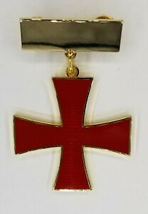 KNIGHTS TEMPLAR ORDER OF THE RED CROSS W PLAIN TOP BAR  (KT ORC-PTB)