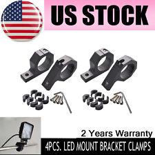 """4X 2"""" 1.5"""" BULL BAR MOUNT BRACKET TUBE CLAMPS FOR LED LIGHT BAR DRIVING OFF ROAD"""