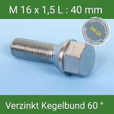 1 St. Radschrauben M16x1,5 Radbolzen verzinkt Kegelbund 60° SW 24  L: 40 mm