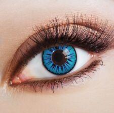 aricona Farblinsen blaue Kontaktlinsen ohne Stärke für dunkle Augen Anime Kostüm