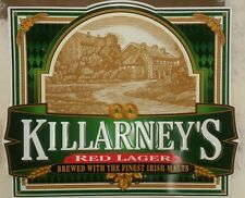 Killarney's red lager brewed with the finest Irish malts metal beer sign ale