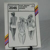 VINTAGE Stretch Sew Brief Hipster Bikini Panties Pattern UNCUT Size 3 4 5 6 7 8
