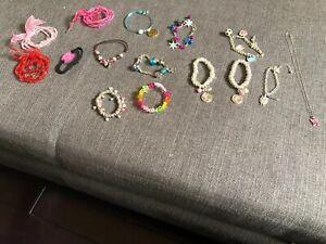 Play Jewelry Lot Of 24 Bracelets & 1 Butterfly Necklace K Heart Love Cupcake Owl