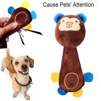 Funny Animal Shape Cute Pet Puppy Dog Toys Soft Plush Sound Squeaky Monkey Ch ZC