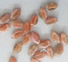 NEW! 15 Czech leaf shaped dusky pink glass beads. Size is 12mm. Nice beads!