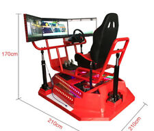 Commercial VR Car Racing Virtual Reality Simulator 3 Screen Realistic Arcade