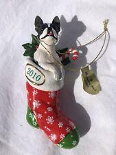 Danbury Mint Boston Terrier Christmas Ornament 2010 FREE SHIPPING
