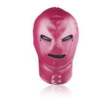 En Cuir Rose Masque Déguisement Capuche, brillant, les fermetures à glissière sur les yeux et la bouche. Top Objet...