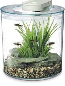 Marina 360 Aquarium 10L Fish Tank with Remote Control LED Multicoloured Lighting