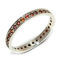 Garnet Natural Handmade Gemstone 925 Sterling Silver Ring Size 7