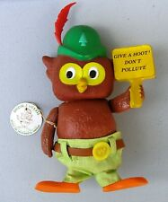 Woodsy Owl Toy by R. Dakin, 1970's.  With tag.