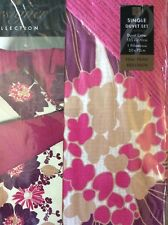 Eleanor Plum  SINGLE QUILT COVER AND PILLOWCASE
