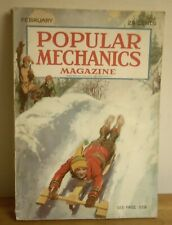 1928 POPULAR MECHANICS February  SLEDDING Radio NAVY Waterspout GOLD MINING Paga