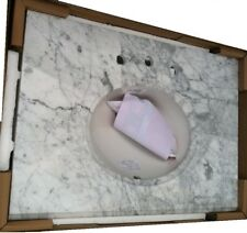 """Pegasus 31"""" X 22"""" Bathroom Marble Vanity Top With Oval Bowl And 8"""" Faucet Spread"""