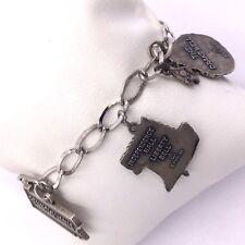 "Sterling Silver Pennsylvania Dutch Charm Bracelet 7"" Length 26.9grams"