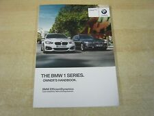 BMW  1 SERIES  HANDBOOK  OWNERS MANUAL 2013-2016 INC I DRIVE ETC
