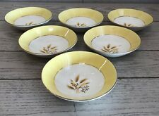 6 Vtg Century Service Alliance Ohio Autumn Gold Semi Vitreous Soup Fruit Bowls