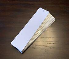 """50ea Dye Sublimation Aluminum Bookmarks 2""""x8"""" w/Hole"""
