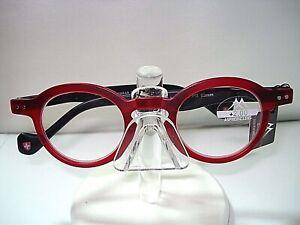 NEW MONTANA READING GLASSES  MODEL 69 ROUND 1.50 RED SPRING HINGE w/ CASE