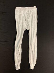 Vintage 80's Mens Long John Thermal Pants Gray Size Medium NEW