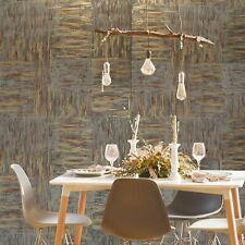 Wallpaper rolls brown bronze brass gold metallic faux plaster stone Textured 3D