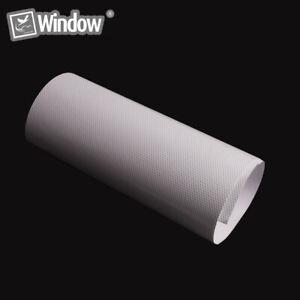 White Perforated Vinyl Self-adhesive Mesh Film for Car Lights Home Windows Decor