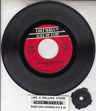 "BOB DYLAN Like A Rolling Stone 7"" 45 rpm vinyl record + juke box strip RARE"