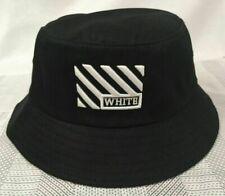 New OFF WHITE Women Men's Bucket Hat Sun Cap Black