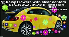 45 DAISY FLOWERS CAR VINYL DECALS RETRO COLORS TRUCK VW STICKERS  OR  ON WALLS