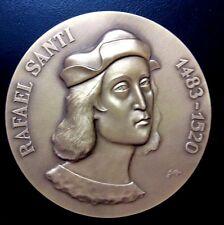Art Renaissance Italian Master Painter Architect Raphael Bronze Medal 80 mm N122