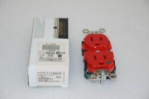 LEVITON 8200-R RED DUPLEX RECEPTACLE 15A 125V 5C354 NEW