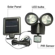 22 LED Motion Sensor Solar PIR Security Light Spotlight Garden Wall Corner Roof