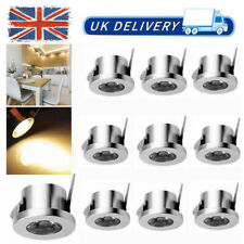 10x 1W LED Recessed Small Cabinet Mini Spot Lamp Ceiling Lights Warm White