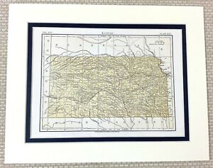 1878 Antique Map of Kansas State The United States of America USA U.S